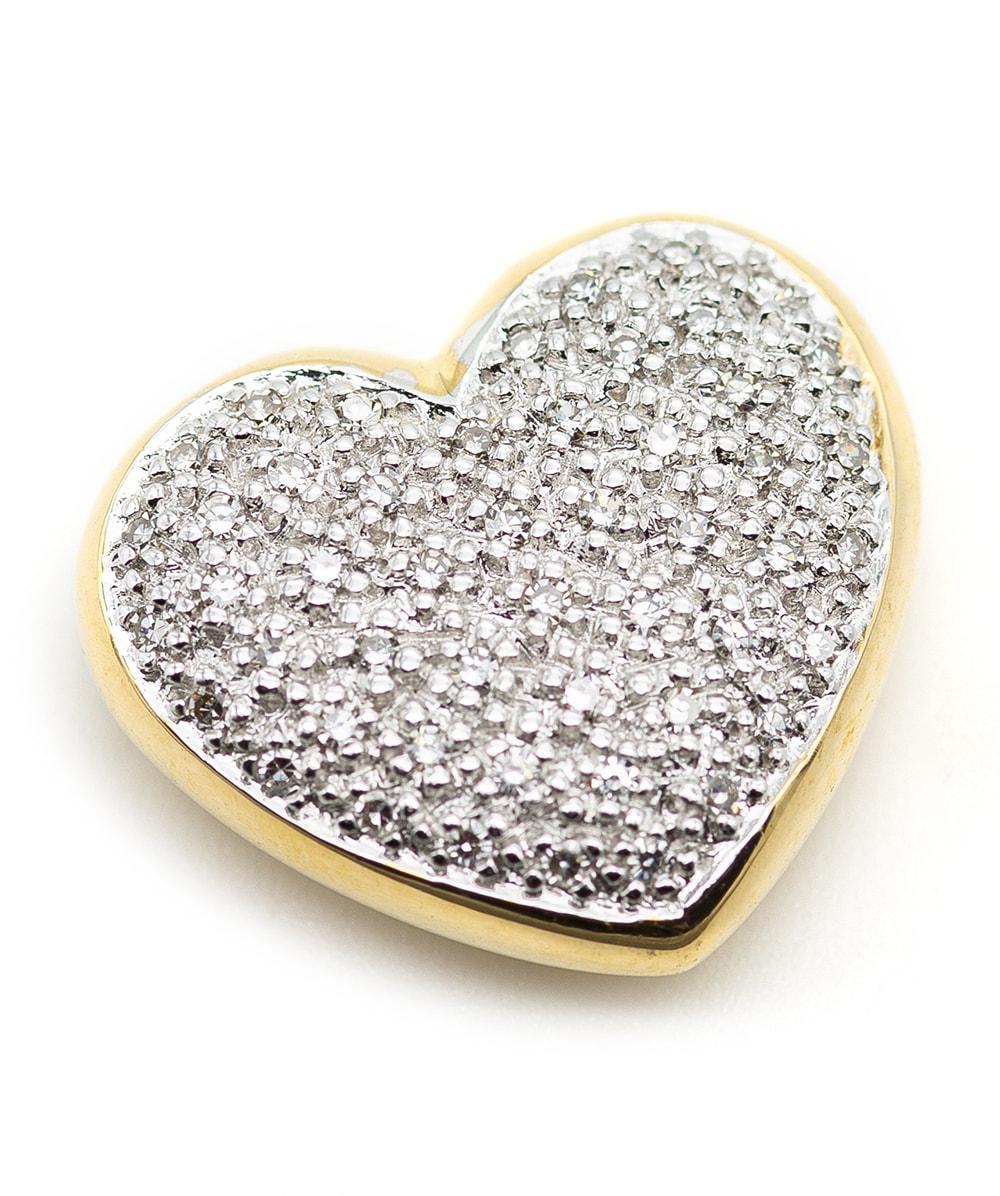 Herzanhänger mit Diamanten 585er Gold bicolor